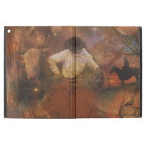 "Cowboys - Leather Boots, Wild Horses & Western Sun iPad Pro 12.9"" Case"