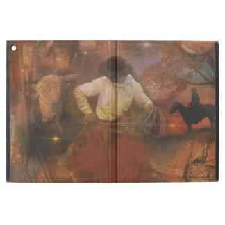 Cowboys - Leather Boots, Wild Horses & Western Sun iPad Pro Case