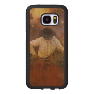 Cowboys - Leather Boots, Wild Horses & Western Sun Wood Samsung Galaxy S7 Case