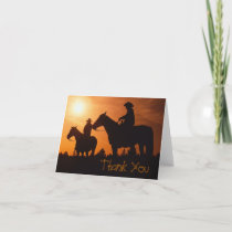 cowboys on horses, Thank You Note