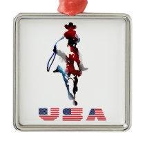 Cowboys Premium Square Ornament
