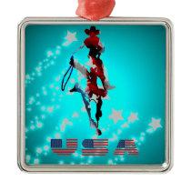 Cowboys Premium Square Ornament #2