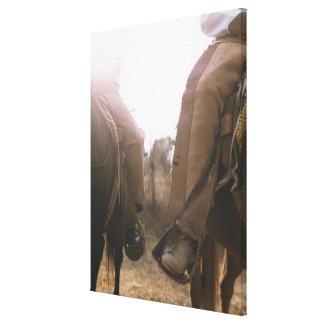 Cowboys Riding Horses Canvas Print