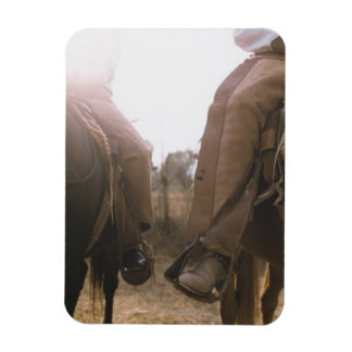 Cowboys Riding Horses Magnet
