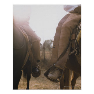 Cowboys Riding Horses Poster