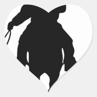 Cowboys Riding Horses Heart Sticker