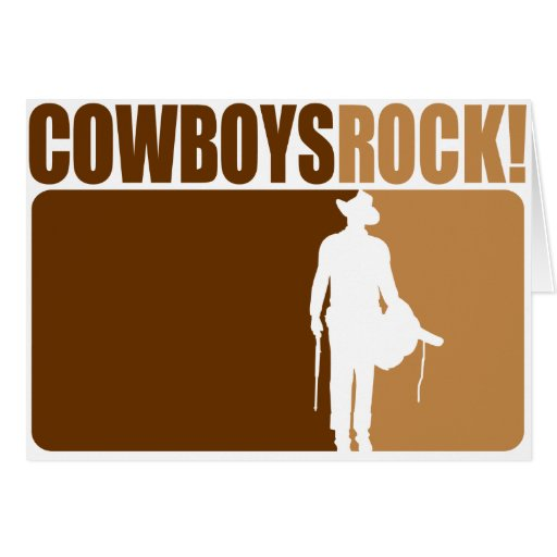 Cowboys Rocks! Greeting Card