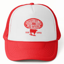 Cowboys Rope It Like Nothing - Barbed Wire RED Trucker Hat