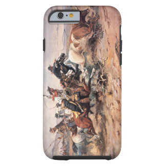 Cowboys roping a steer, 1897 (oil on canvas) tough iPhone 6 case