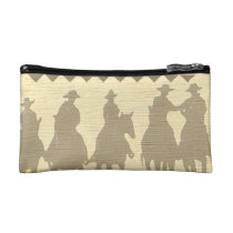 Cowboys roundup time western southwest pocket book makeup bag