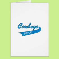 COWBOYS RULE CARD