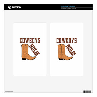 COWBOYS RULE DECALS FOR KINDLE FIRE