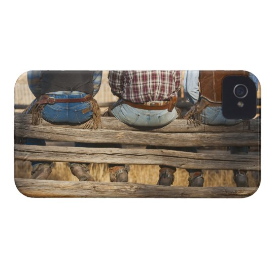 Cowboys sitting on fence iPhone 4 Case-Mate case