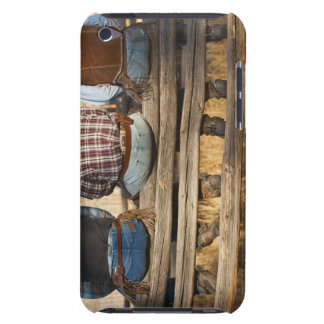 Cowboys sitting on fence iPod touch case