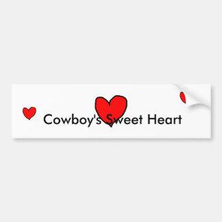 Cowboy's Sweet Heart Bumper Sticker