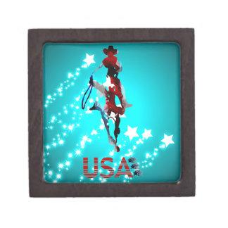 """Cowboys/USA Flag/Stars Small (2""""¤2"""") Gift Box"""