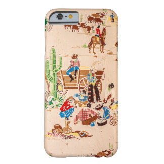 Cowboys - Vintage Wallpaper - Wild West Barely There iPhone 6 Case