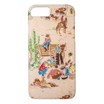 Cowboys - Vintage Wallpaper - Wild West iPhone 8/7 Case