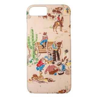 Cowboys - Vintage Wallpaper - Wild West iPhone 7 Case