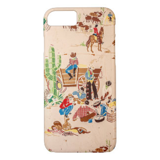 Cowboys - Vintage Wallpaper - Wild West iPhone 8/7 Case