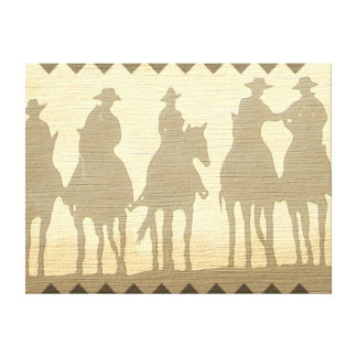 Cowboys Western roundup time wild west canvas art