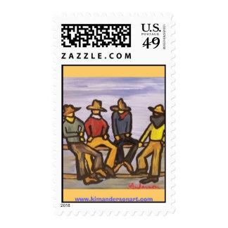 Cowboytalk www kimandersonart com postage stamps
