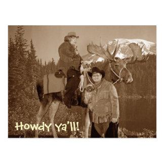 cowboyus, Howdy ya'll! Postcard