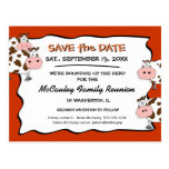 Cowdacious Paprika Family Reunion Save the Date Post Card
