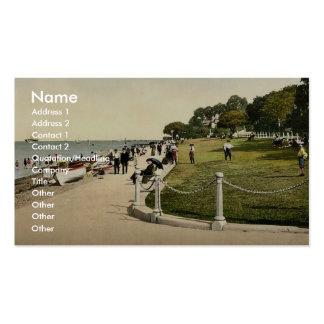 Cowes, el verde, II., isla del Wight, clas de Ingl Plantilla De Tarjeta De Visita