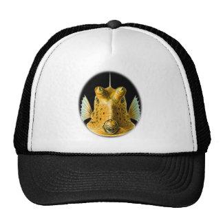 Cowfish Largo-de cuernos Gorros Bordados