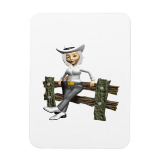 Cowgirl 10 rectangular magnets