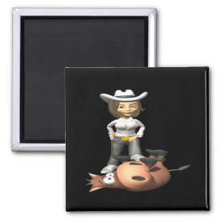 Cowgirl 12 refrigerator magnet