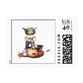 Cowgirl 12 postage stamps