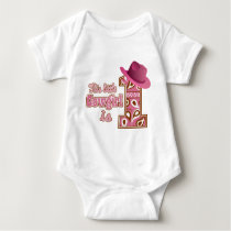 Cowgirl 1st Birthday Baby Bodysuit