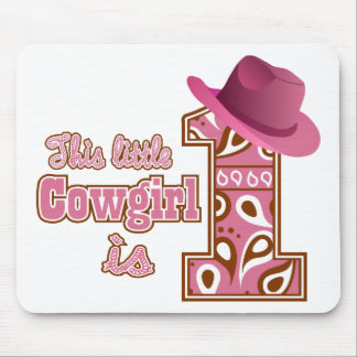 Cowgirl 1st Birthday Mouse Pad