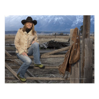 Cowgirl 3 postcard