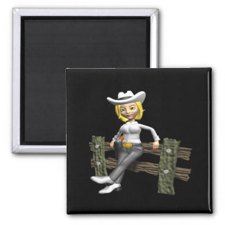Cowgirl 4 magnet