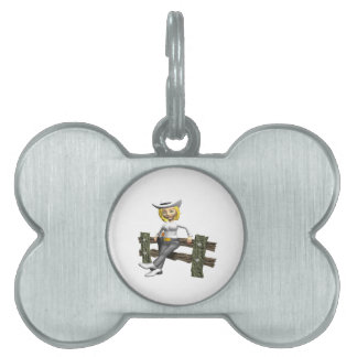Cowgirl 4 pet name tag