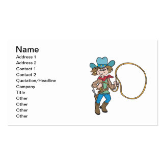 Cowgirl 6 business card