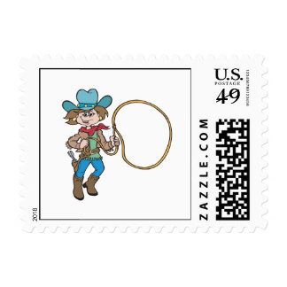 Cowgirl 6 postage stamps