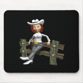 Cowgirl 7 mouse pad