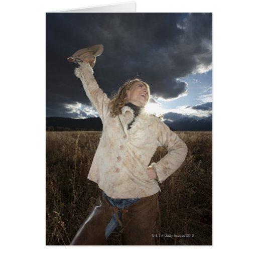 Cowgirl 8 card