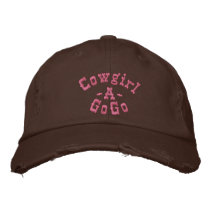 Cowgirl, -A-, GoGo Embroidered Baseball Hat