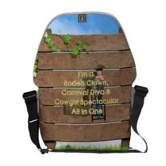 Cowgirl All in One Messenger Bag