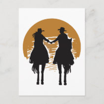 Cowgirl and Cowboy Postcard