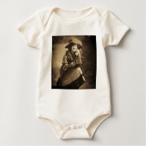 Cowgirl and Her Six Shooter Vintage Baby Bodysuit