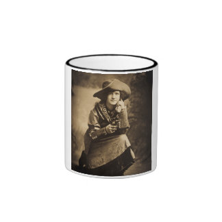 Cowgirl and Her Six Shooter Vintage Ringer Mug