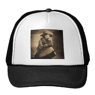 Cowgirl and Her Six Shooter Vintage Trucker Hat