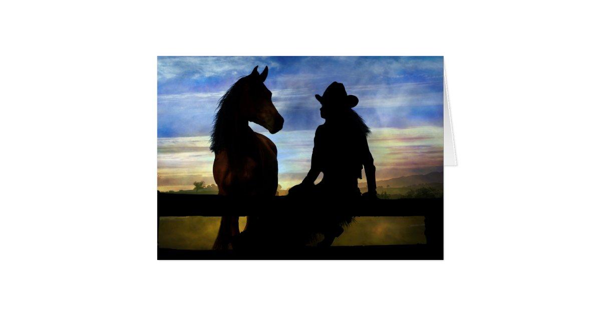 Cowgirl and Horse Happy Birthday Card   Zazzle.com