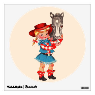 Cowgirl and Horse Wall Decal